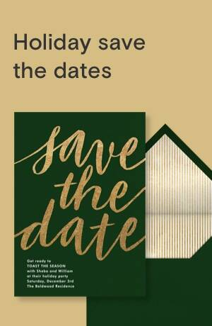 Holiday save the dates