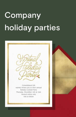 Business holiday invitations