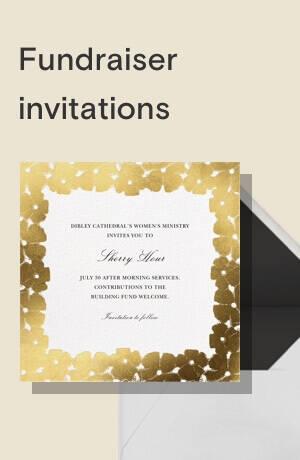 Fundraiser invitations