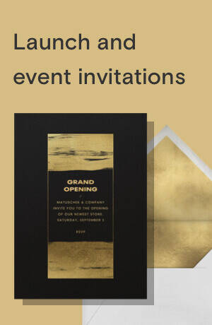 Launch and event invitations