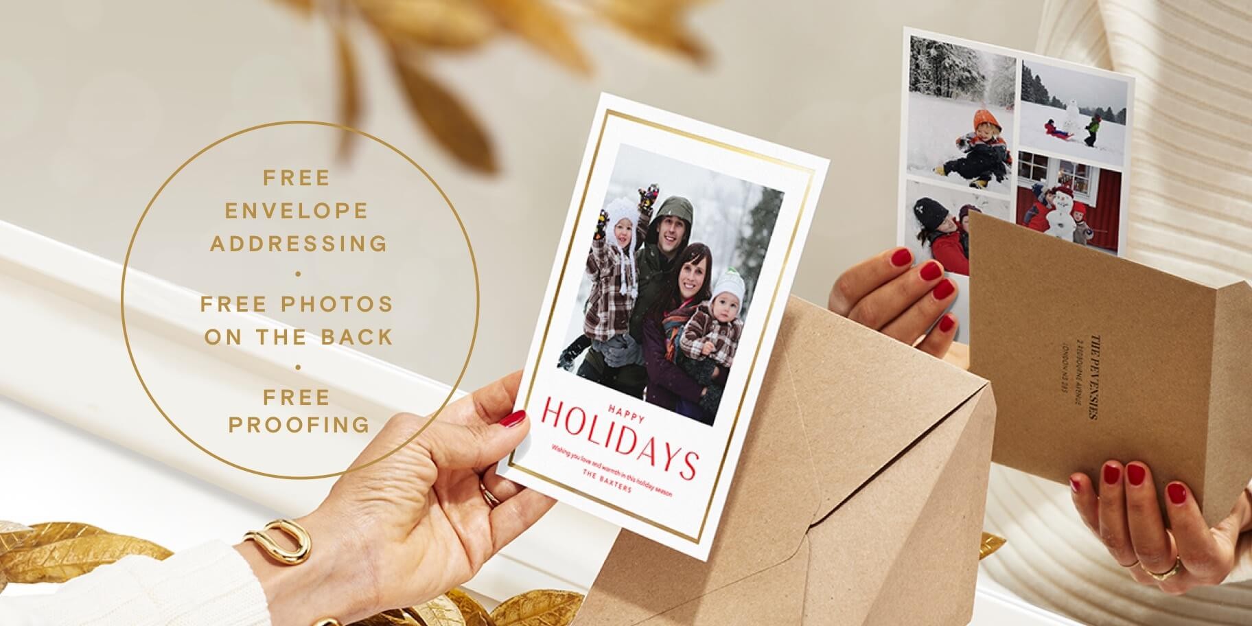 Printed photo holiday cards