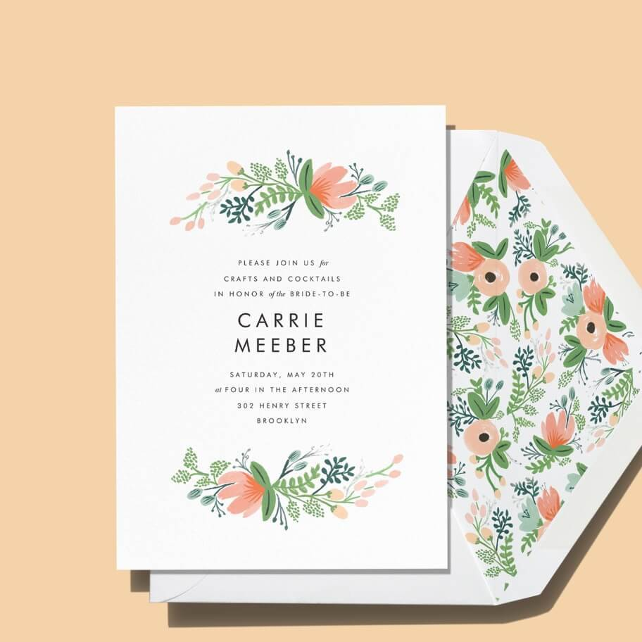 Printed bridal shower invitations